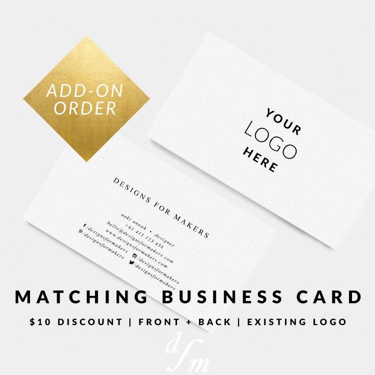 Matching business card for premade logo design business card matching business card for premade logo design business card design card template premade colourmoves