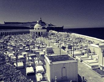 Graveyard photo San Juan, Puerto Rico 8X10