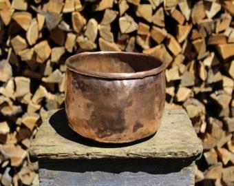 Handmade Copper Container, Vase Container