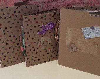 Handmade Junk Journal, File folder Journal, Doodle/note book, Mini Junk Journal