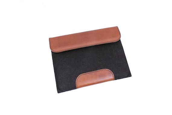 iPad case - iPad Pro case - Personalized ipad cover - felt ipad sleeve - tablet case - iPad Mini Cover - handcrafted custom size - leather