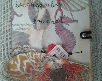 SEASHELLS journal, junk journal, diary
