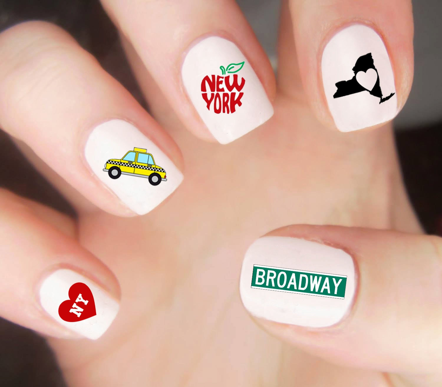 New york nail decals new york nail wraps new york nail art sold by lovebylunaco prinsesfo Images