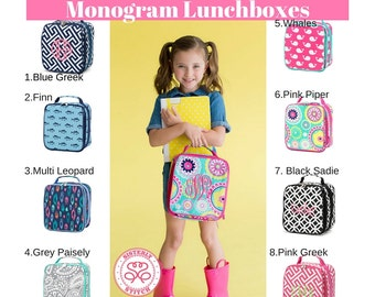 Monogram Lunch Box/Personalized Lunch Box/ Lunch bag/ Insulated bag