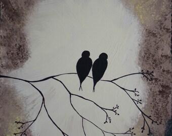 Love Birds - Acrylic Painting on Canvas
