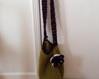 Crochet Flower Messanger Bag