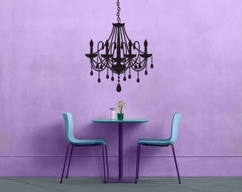 Chandelier - No 3 - Removable Vinyl Wall Decal Sticker