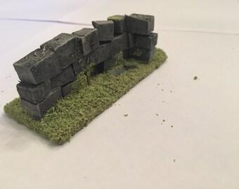 Modular Wall Corner for Wargaming terrain