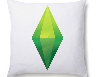 The Sims Plumbob Printed Cushion Cover Game PC Mac Gift