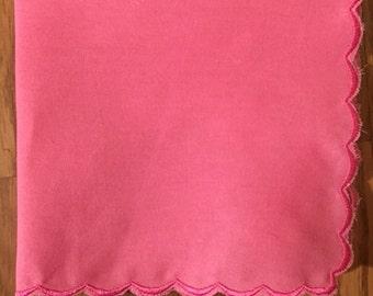 Pink Handkerchief Blank 100% cotton handmade