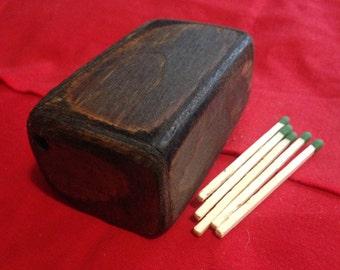 wood box of matches