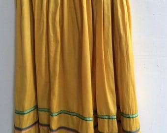 1960s dancing skirt for square dancing, contra dancing, swing. All cotton, great colors and completely hand-made