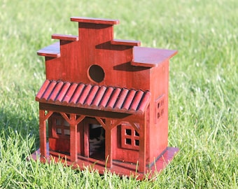 Beak-Easy Country Western Alehouse Birdhouse - FREE shipping!