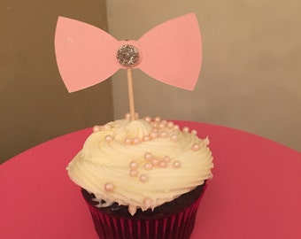 Bow Cupcake Topper