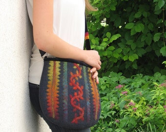 "Felted bag ""Tendril"""