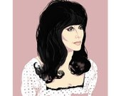 Cher - Art Print - Shoop Shoop - Wall Art - Giclee - Fine Art Print - Gay Icon