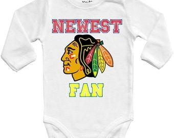 Blackhawks clothing etsy for Vintage blackhawks t shirt