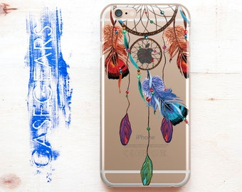 Dream Catcher iPhone 6 Case Phone S5 Phone Case Phone 4 Case iPhone Clear SE Case iPhone Feather Transparent Case iPhone Clear Case CGCP0013