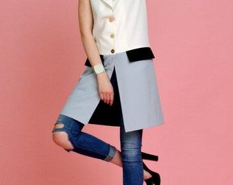 Colour block vest by MODNELI