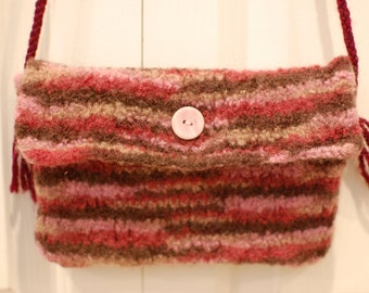 Felted Wool Purse: Sunrise