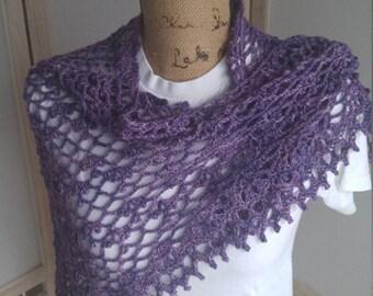 Crochet Alchemy Purple Berry Shawl, Wrap