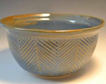 Carved Stoneware Bowl