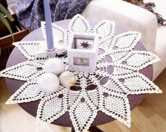 Crochet doily - crochet doilies - large doily - Home decor - White crochet doily - Handmade tablecloth