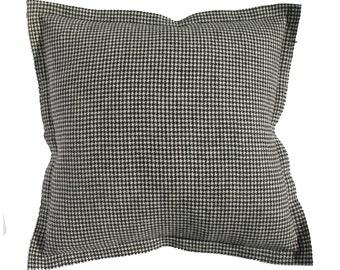 Harris Tweed Houndstooth 28 inch Floor Pillow - Hand Woven