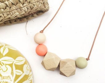 Marlow Necklace • blush/coral/yellow