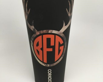 24 oz Corkcicle with Mossy Oak Camo Vinyl- Many Colors & Ready to Ship!