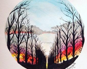 Sky on Fire Print