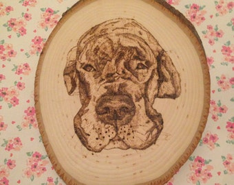 Custom Wood-burned Pet Portrait