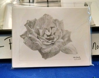 Rose from St. Louis Botanical Garden Notecard set(5)