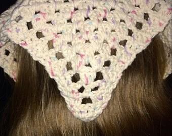 Crochet Kerchief, Hair Bandana