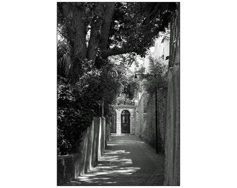 Black and White, Italy, Print, Photography, Art Deco, Retro, Mediterranean, Architecture, Landscape, Fine Art, Wall Art - Italy (II), 2011.