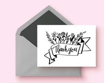 Thank You Cards| 8 card set