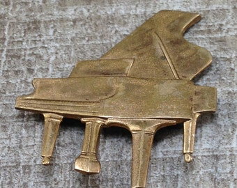 Gorgeous Vintage Art Deco Grand Piano Musical Music Instrument
