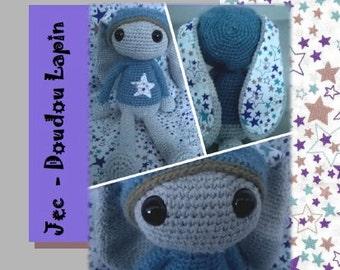 PDF pattern - Crochet Bunny funny