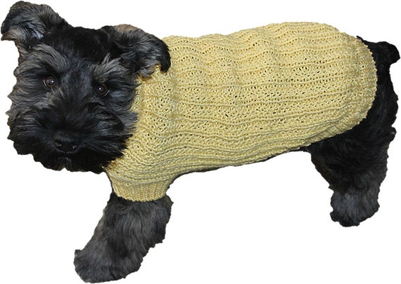 Farrow Rib Dog Sweater Pattern