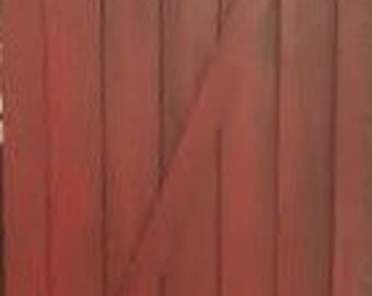 Rustic Distressed Barn Red Barn Door