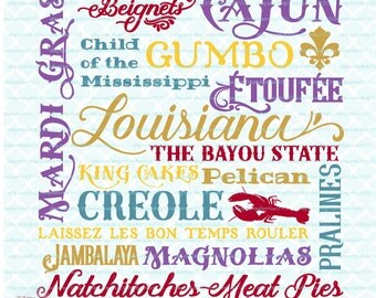 Louisiana Subway Art Sign svg The Bayou State svg Child of the Mississippi svg dxf eps jpg files