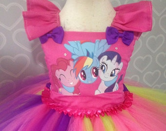 My little pony tutu dress/my little pony dress/pony tutu dress/rarity tutu dress/my little pony costume
