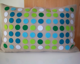 green and blue beige dotted pollow