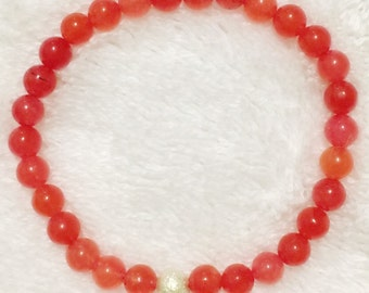 6mm jade Beaded Bracelet