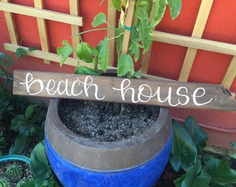 Reclaimed Wood Beach House Sign