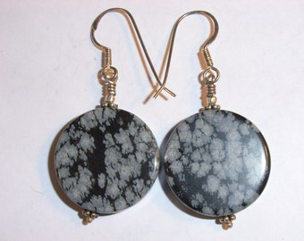 3632: Sterling Silver and Semi-precious Stone Earrings