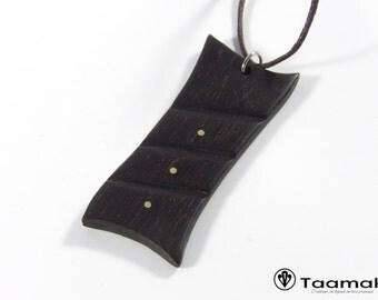 Colombia ebony wood pendant necklace