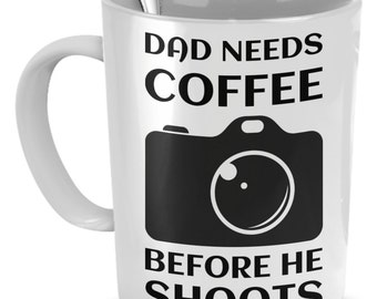 Fun White Ceramic Photography Mug.  Get This For Yourself Or Any Deserving Photographer You Know.