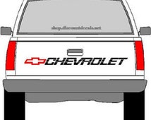 CHEVROLET Truck Truck Decal - RED Bowtie With BLACK Lettering