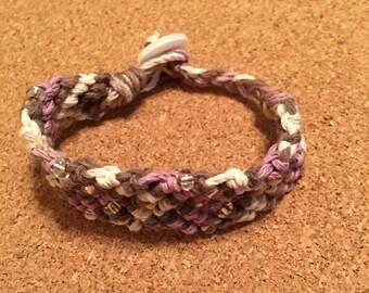 Beaded Woven Bracelet Ivory